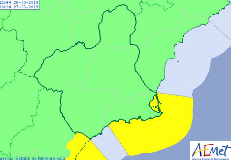 <span style='color:#780948'>ARCHIVED</span> - Gale force wind alert on the coasts of Mazarrón and Cartagena
