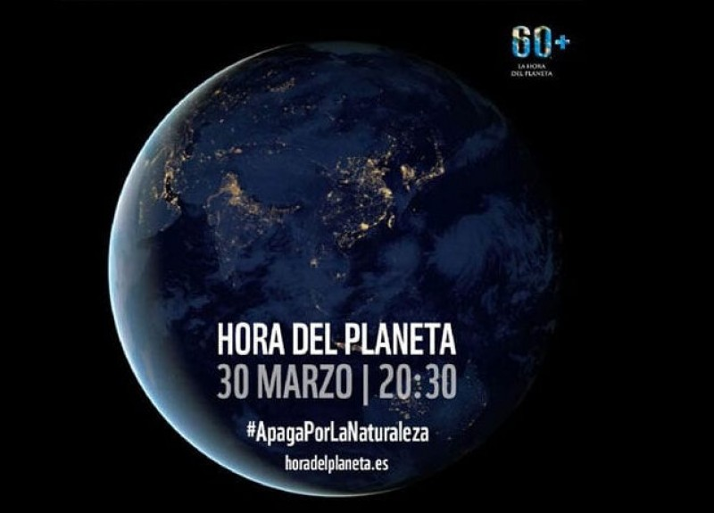 <span style='color:#780948'>ARCHIVED</span> - Murcia monuments in the dark on Saturday evening for Earth Hour 2019
