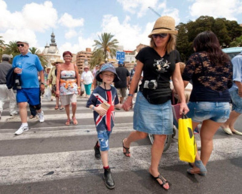 A fifth of all foreign visitors to Spain in February were from the UK