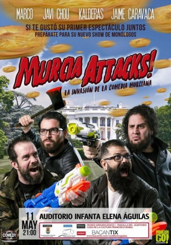 11th May Spanish language humour in Águilas: Murcia Attacks!