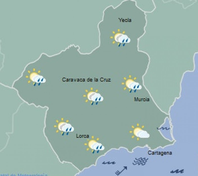 <span style='color:#780948'>ARCHIVED</span> - Murcia to miss the worst of the weather as rain and snow sweep across Spain