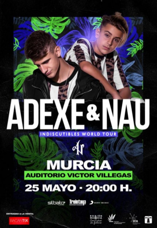 25th May, Adexe y Nau live in concert at the Auditorio Víctor Villegas in Murcia