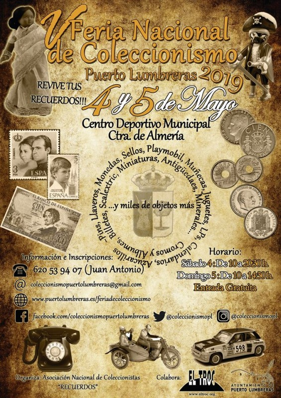 4th and 5th May Puerto de Lumbreras Collector's Fair