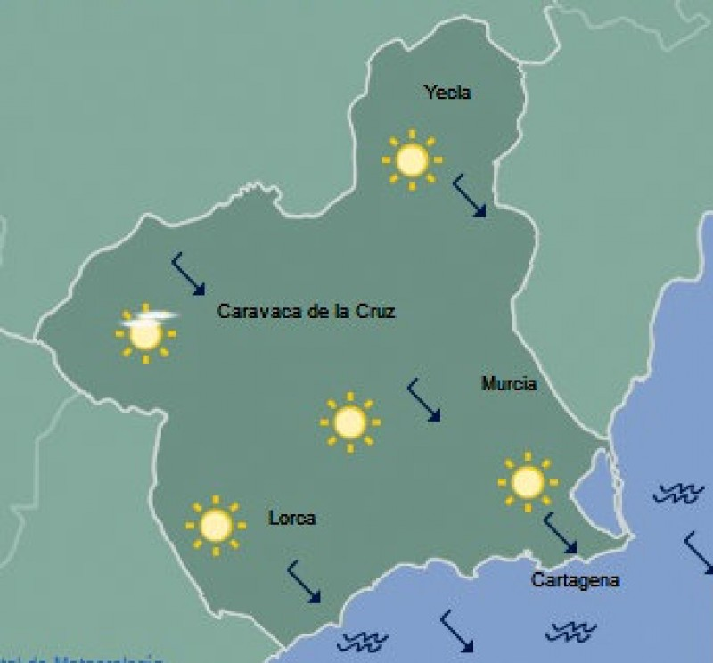 <span style='color:#780948'>ARCHIVED</span> - Temperatures forecast to reach 28 in Murcia on Saturday!