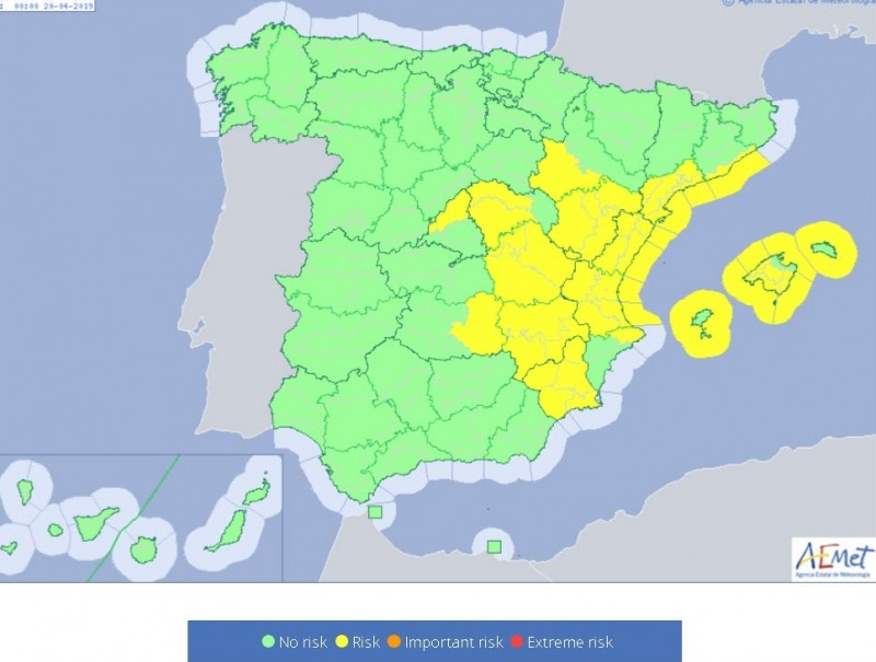 <span style='color:#780948'>ARCHIVED</span> - Yellow alert for rains across Murcia region for Friday and Saturday