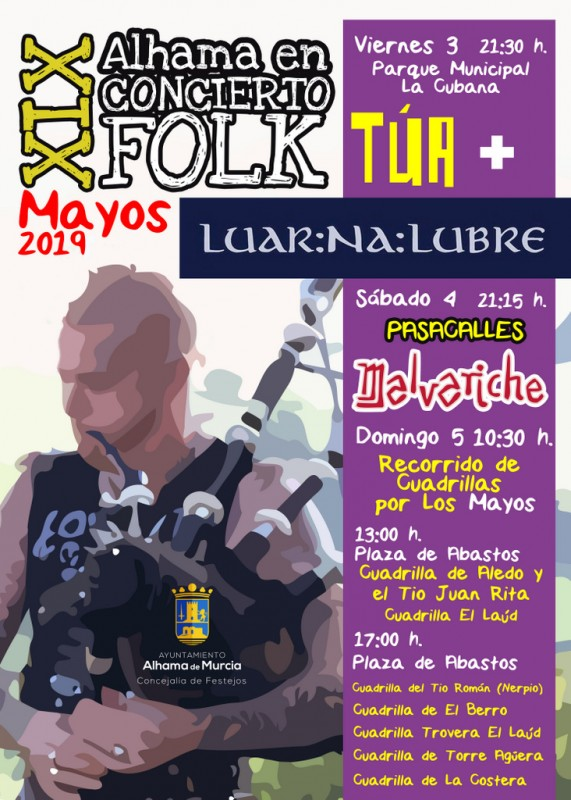 3rd to 5th May 2019: Free Folk in Alhama de Murcia as part of Los Mayos