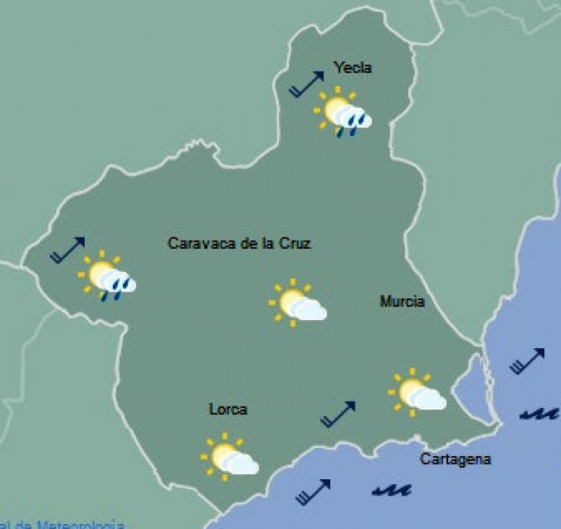 <span style='color:#780948'>ARCHIVED</span> - Bright weather returning to the Costa Cálida for the weekend