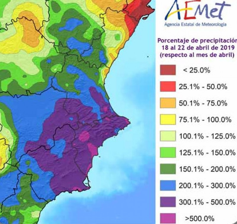 <span style='color:#780948'>ARCHIVED</span> - Aemet describes Easter rain in Murcia as historic
