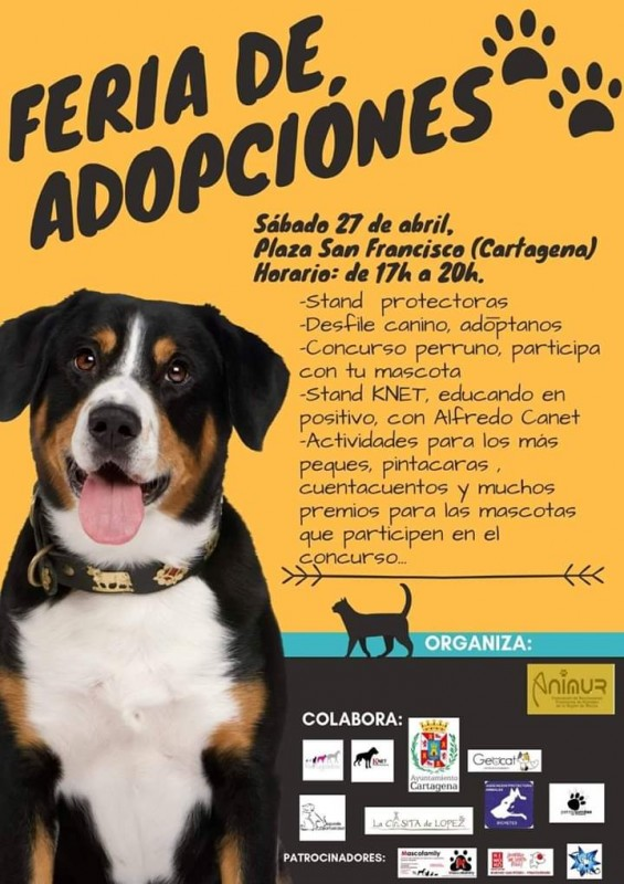 <span style='color:#780948'>ARCHIVED</span> - Saturday 27th April: Adopt a dog fair in Cartagena