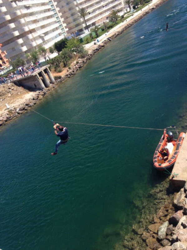 <span style='color:#780948'>ARCHIVED</span> - Saturday 4th May Free bungee jumping, ziplining and climbing wall: Estacio Extreme in La Manga del Mar Menor