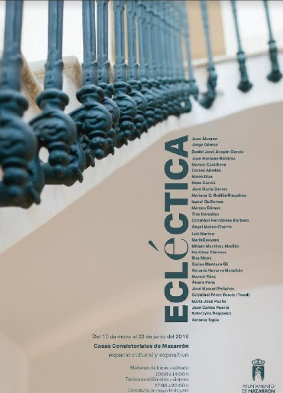 10th May to 22nd June, Ecléctica art exhibition in Mazarrón