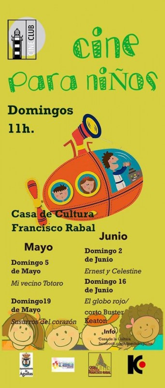 <span style='color:#780948'>ARCHIVED</span> - 19th May Children's cinema in Águilas
