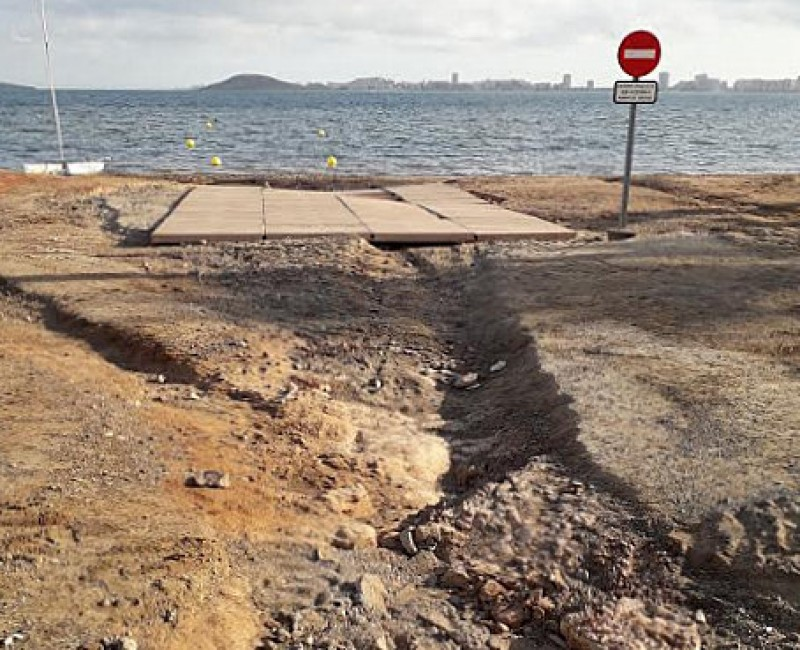 <span style='color:#780948'>ARCHIVED</span> - 124,000-euro boat launch ramp in Playa Honda unusable after just 5 months