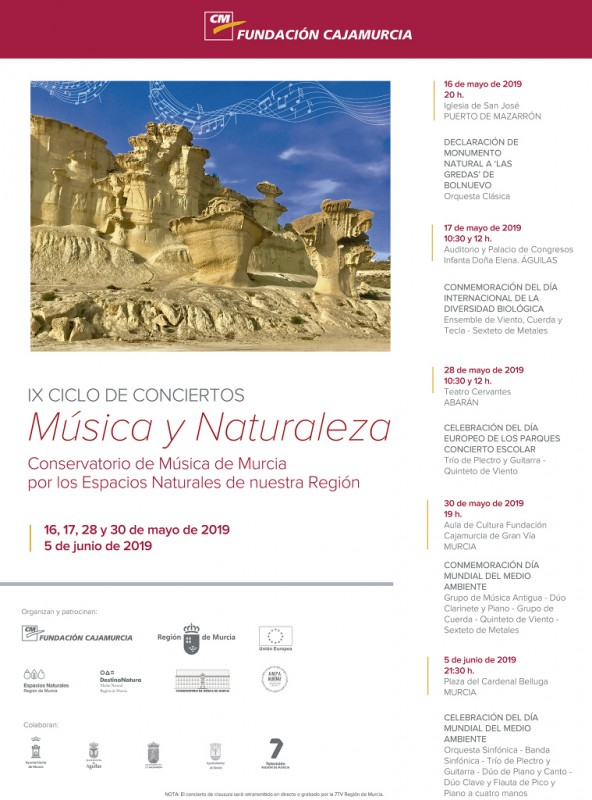 <span style='color:#780948'>ARCHIVED</span> - Thursday 30th May: free concert for World environment day in Murcia city