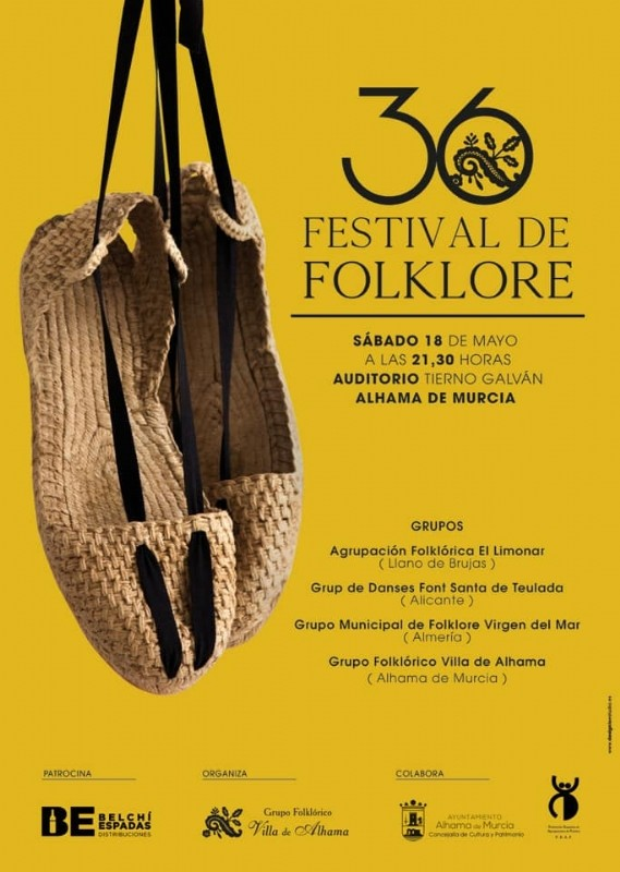 <span style='color:#780948'>ARCHIVED</span> - Saturday 18th May Free entry folkdancing festival in Alhama de Murcia