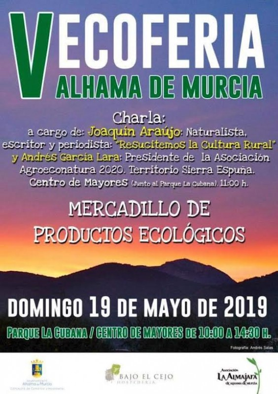 <span style='color:#780948'>ARCHIVED</span> - Sunday 19th May Alhama de Murcia Ecofair