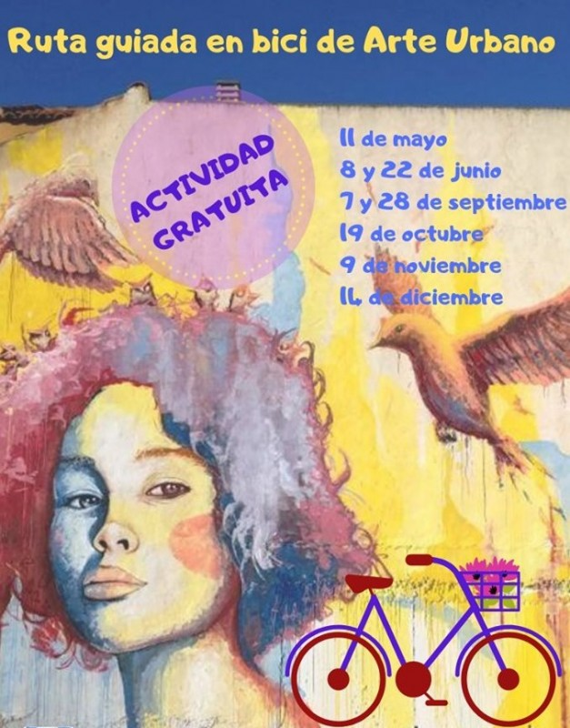 <span style='color:#780948'>ARCHIVED</span> - 22nd June Los Alcázares: Free guided cycling route around open-air urban art museum