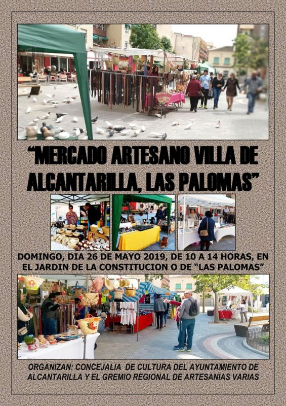 <span style='color:#780948'>ARCHIVED</span> - Sunday 26th May 2019 Artisan market in Alcantarilla