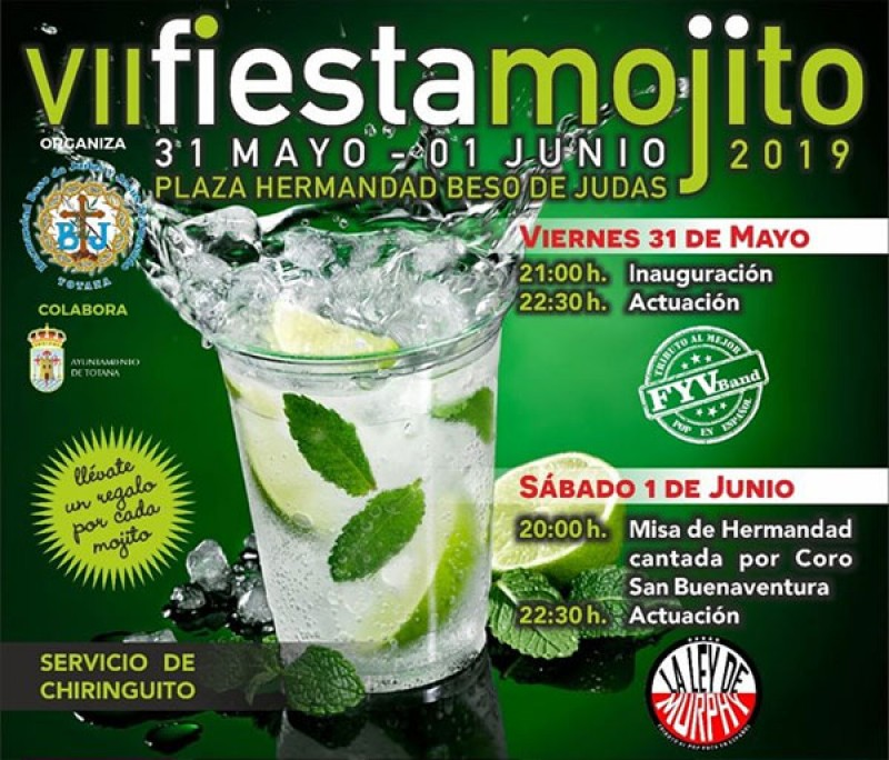 31st May to 1st June Totana: Fiesta Mojito