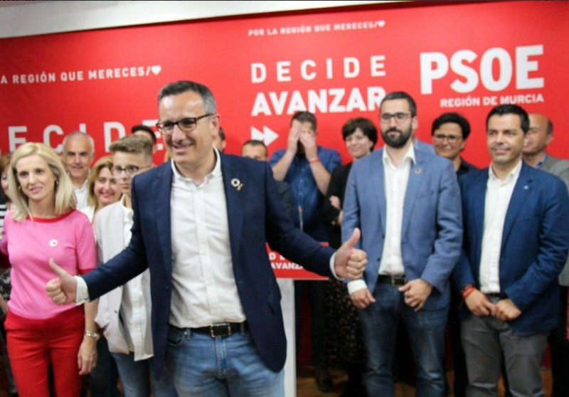<span style='color:#780948'>ARCHIVED</span> - PSOE celebrate historic election victory in the Murcia regional elections
