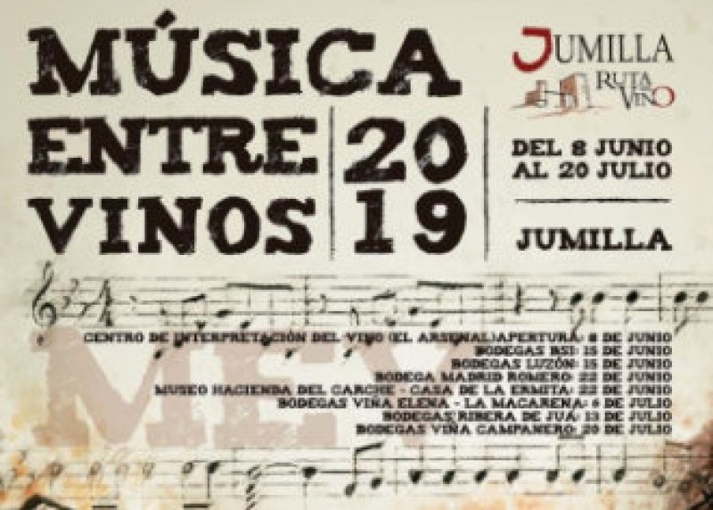 8th June to 20th July: Música entre Vinos in Jumilla