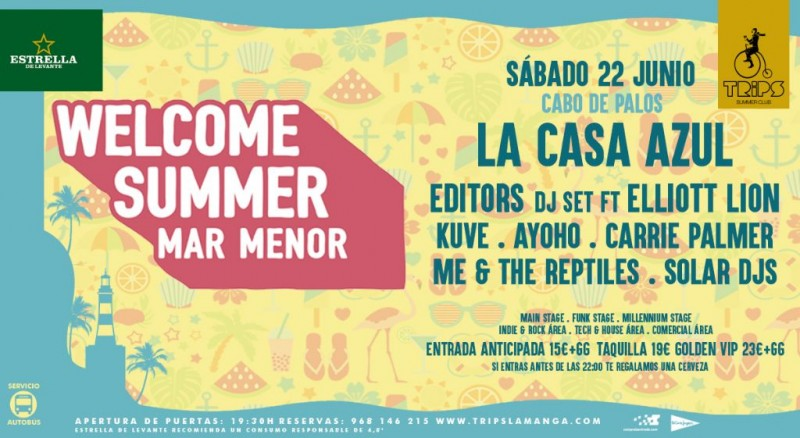 <span style='color:#780948'>ARCHIVED</span> -  22nd June Welcome Summer Festival Cabo de Palos