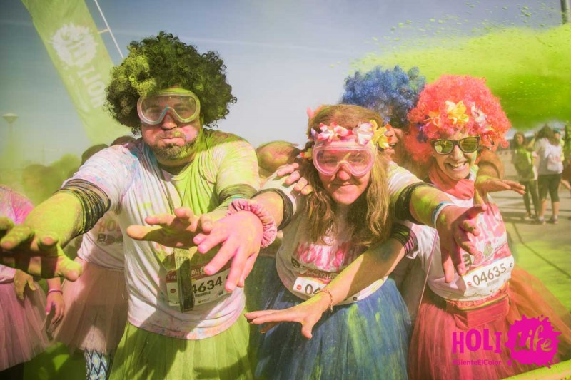 Saturday 3rd August: Holi party fun in San Pedro del Pinatar