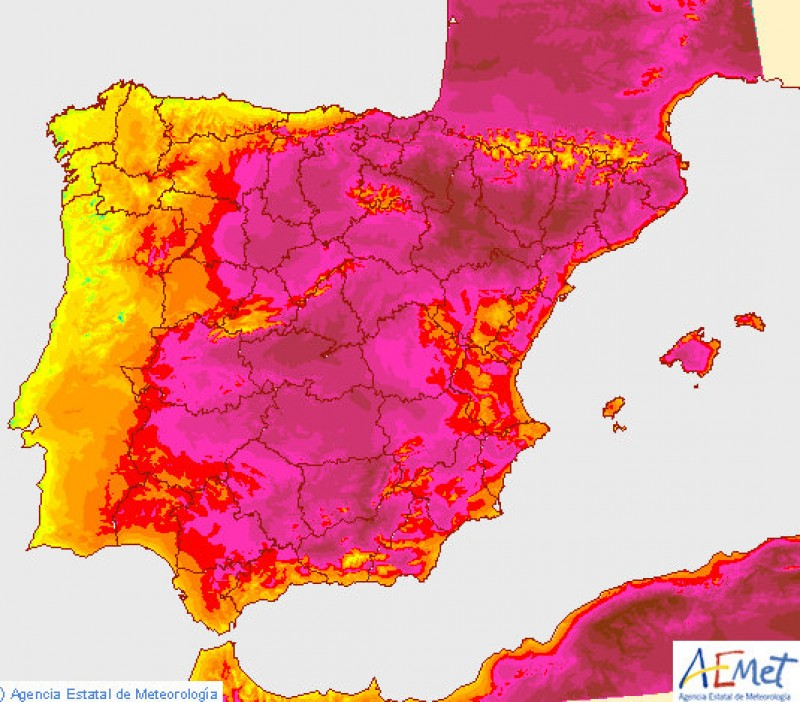 Aemet extend heatwave warning for 40 degree temperatures