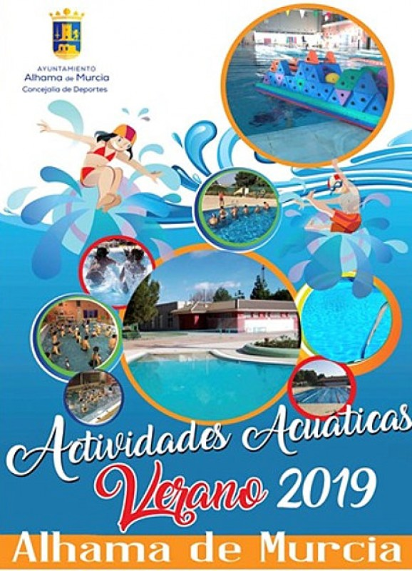 Open-air swimming pool timetables in Alhama de Murcia for summer 2019