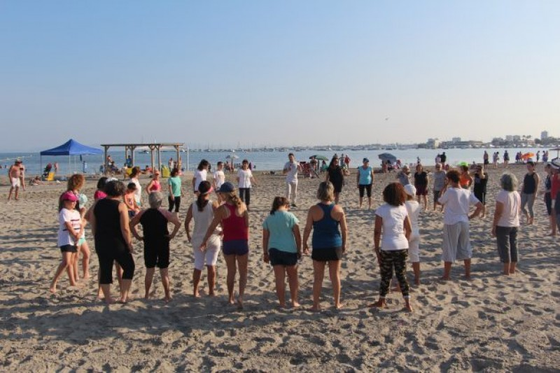 <span style='color:#780948'>ARCHIVED</span> - Free beach exercises, tai chi and pilates on the beaches of San Pedro del Pinatar summer 2019