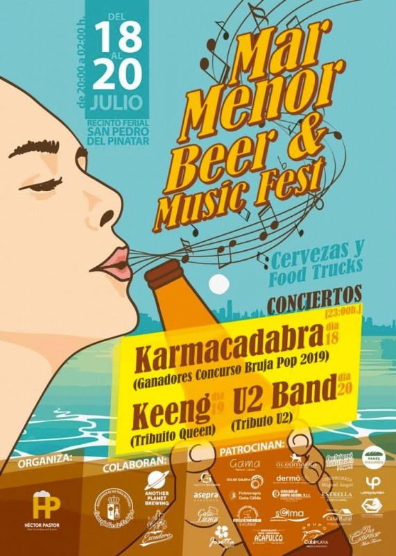 18th to 20th July Mar Menor Beer and Music festival; San Pedro del Pinatar
