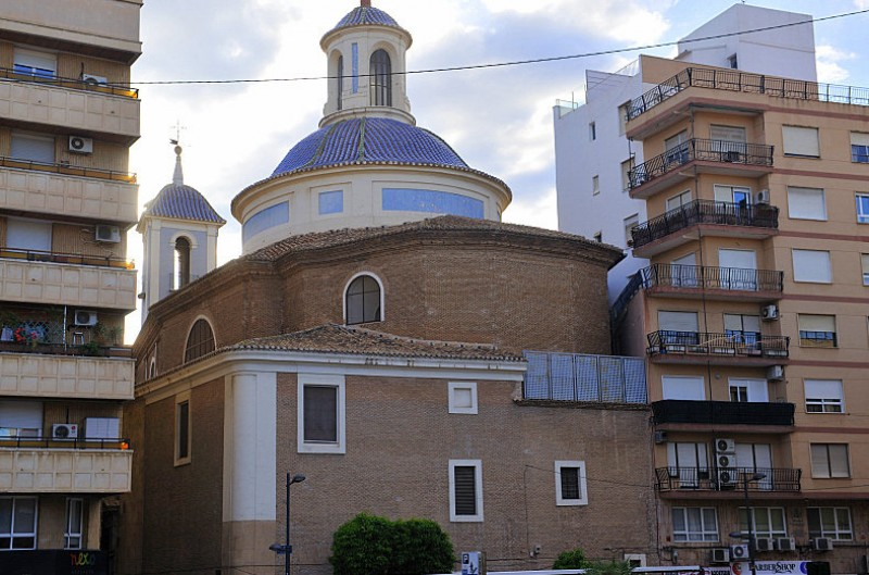 The church of San Lorenzo in the city of Murcia