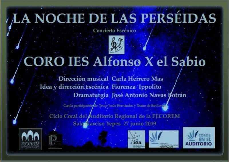 27th June, choral concert at the Auditorio Víctor Villegas in Murcia