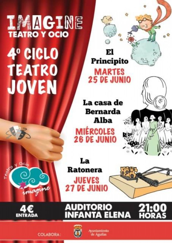 <span style='color:#780948'>ARCHIVED</span> - 25th, 26th and 27th June Águilas:Three nights of well-priced family theatre in Spanish