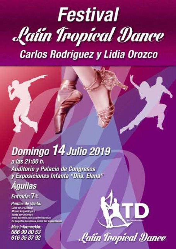 Sunday 14th July Águilas: Festival Latin Tropical dance