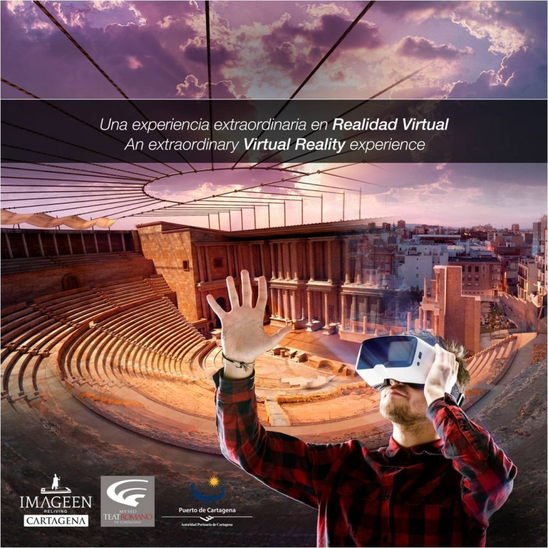 Every weekend in June: Virtual reality tours and cultural tours; Roman Theatre Cartagena