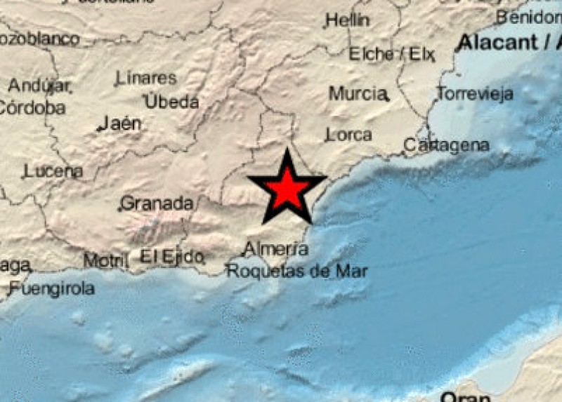 3.4 mbLg earthquake close to the south-west of Murcia on Tuesday morning