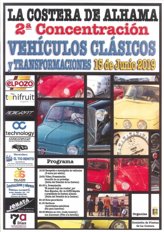 <span style='color:#780948'>ARCHIVED</span> - Saturday 15th June; Gathering of classic vehicles at La Costera, Alhama de Murcia