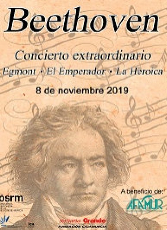 8th November Beethoven with the OSRM at the Auditorio Víctor Villegas in Murcia