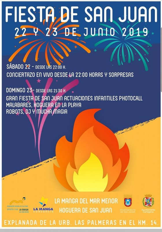 <span style='color:#780948'>ARCHIVED</span> - 22nd and 23rd June Noche de San Juan in La Manga del Mar Menor
