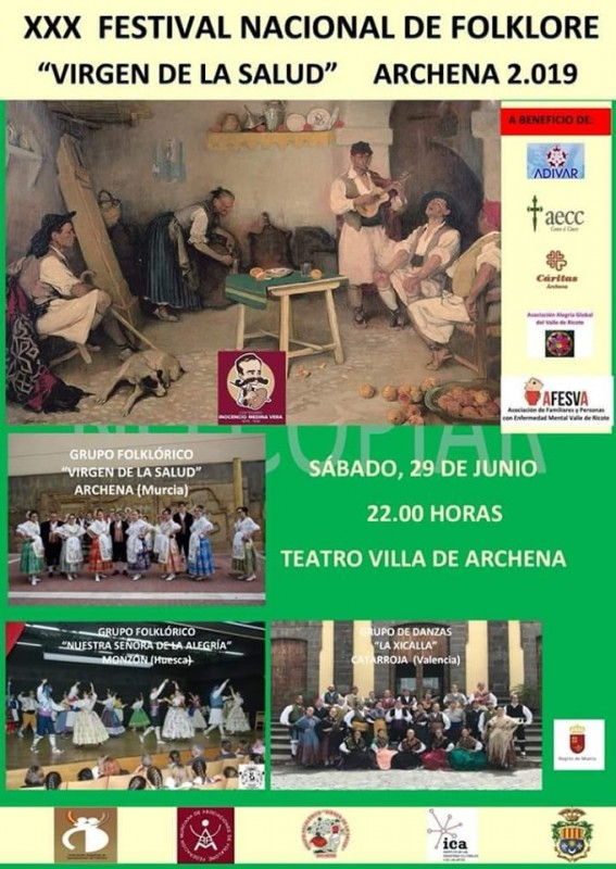<span style='color:#780948'>ARCHIVED</span> - Saturday 29th June Folkdancing Festival in Archena