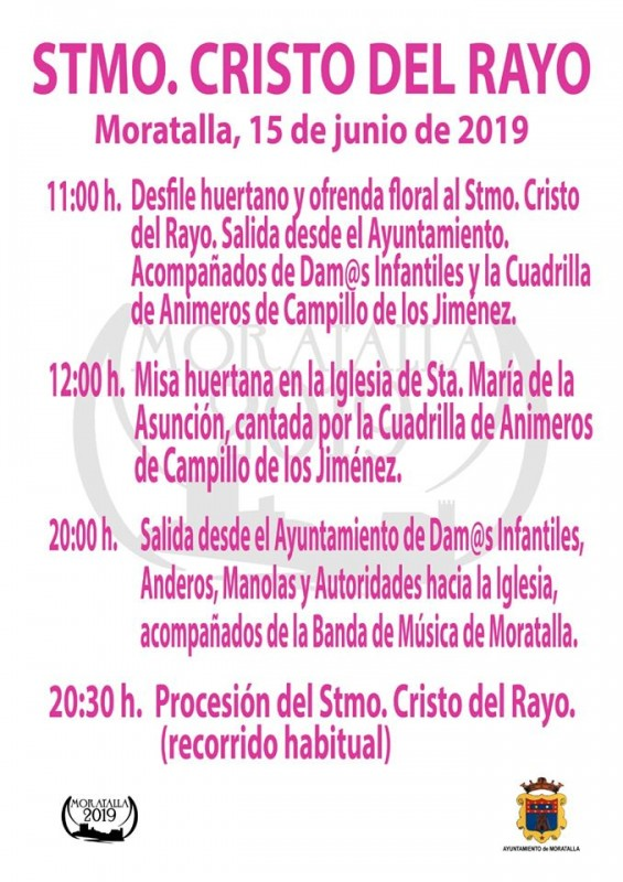 <span style='color:#780948'>ARCHIVED</span> - 15th June Moratalla; first acts of Fiestas Stmo. Cristo del Rayo