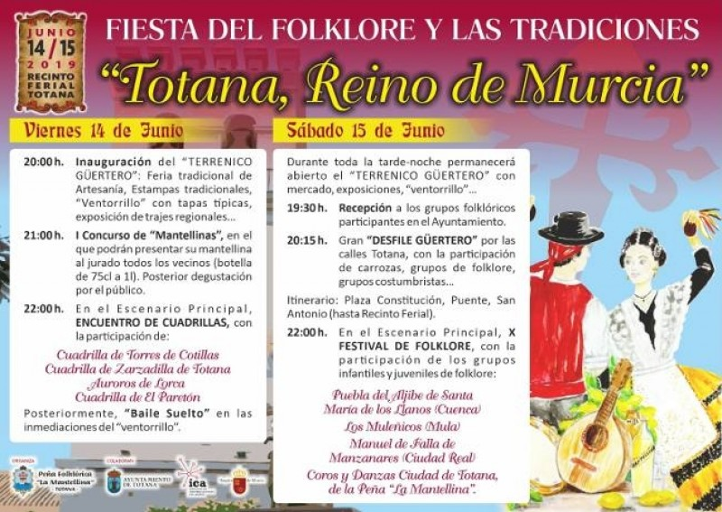 <span style='color:#780948'>ARCHIVED</span> - 14th and 15th June: Folkdancing festival and artisan fair in Totana
