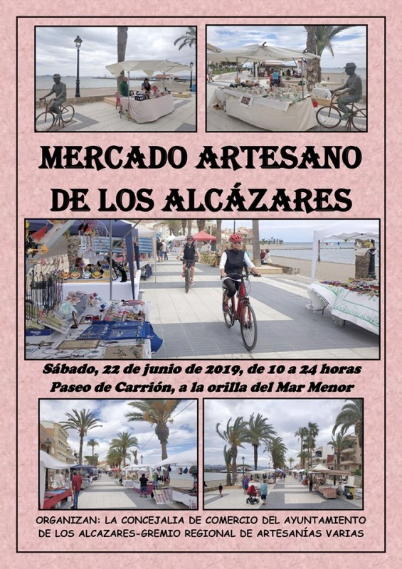 <span style='color:#780948'>ARCHIVED</span> - Saturday 22nd June Artisan Market in Los Alcázares