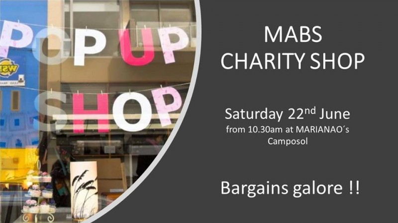 <span style='color:#780948'>ARCHIVED</span> - Saturday 22nd June MABS Cancer support pop up shop on Camposol
