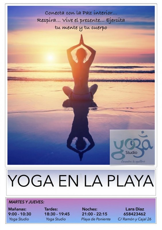 <span style='color:#780948'>ARCHIVED</span> - Yoga on the beach in Águilas Tuesdays and Thursdays