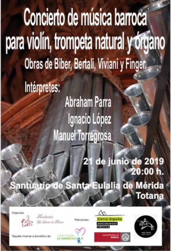 <span style='color:#780948'>ARCHIVED</span> - Friday 21st June Totana: Concert of Baroque music in the church of la Santa
