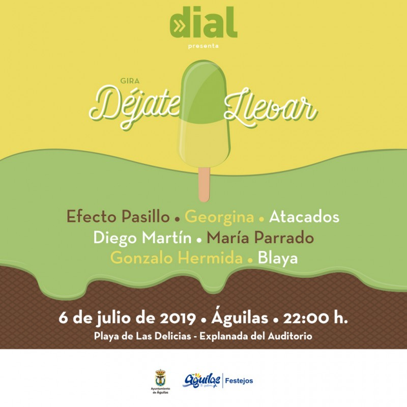 Saturday 6th July Águilas: Free beach party with live music courtesy of the Cadena Dial national tour