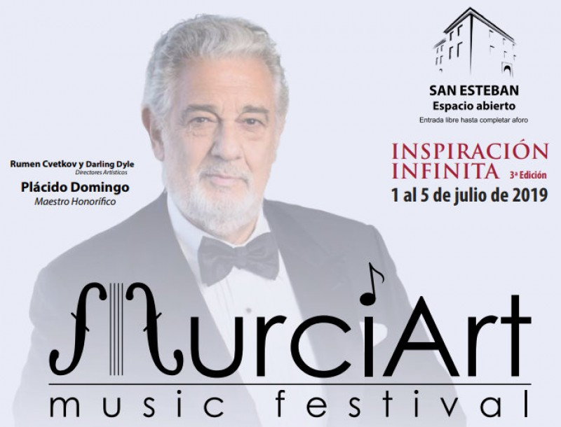 <span style='color:#780948'>ARCHIVED</span> - 1st to 5th July, free open-air classical music recitals at the Palacio de San Esteban in Murcia