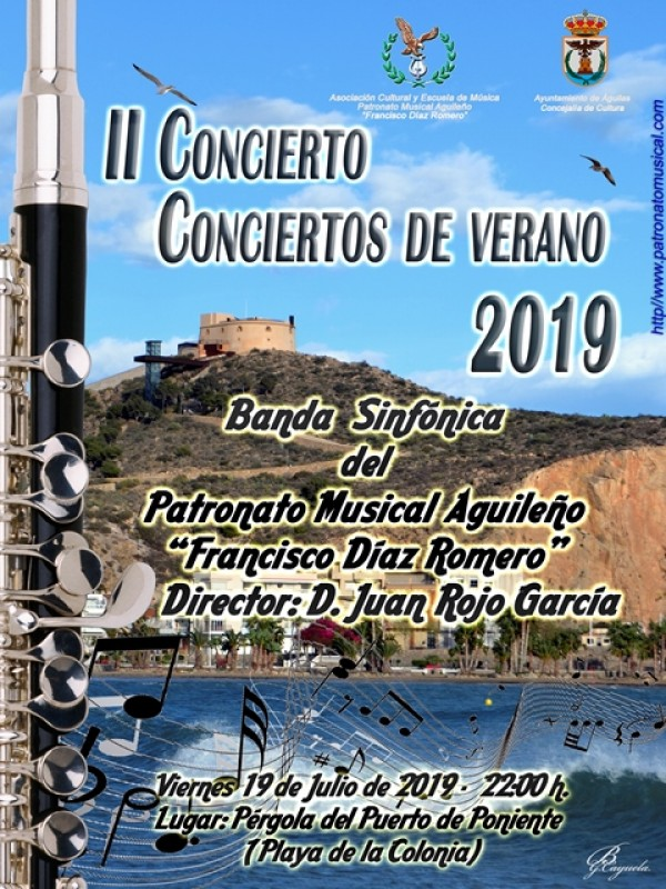 Friday 19th July Free open air band concert in Águilas